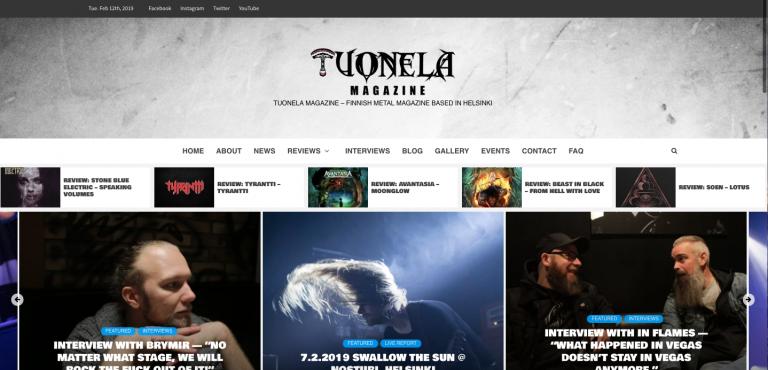 www.tuonelamagazine.com